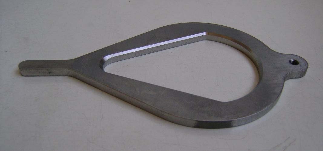 Componente eseguito a disegno in alluminio